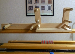 Inkle Loom Resting Atop Large Loom