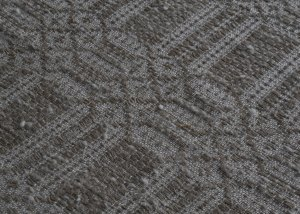 The overshot is a linen-cotton yarn with white cotton flakes.