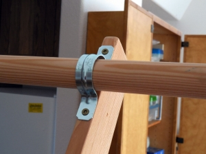 Bar Holder at Top of Trapeze Frame