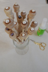 Cultured Pearl Buttons to adorn the Bobbins