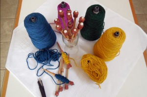 Bobbins Finished.  Now, I'm ready to make a Tapestry.